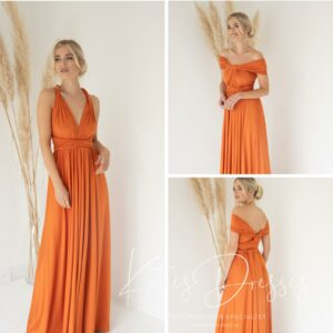 Burnt Orange Multiway Gown